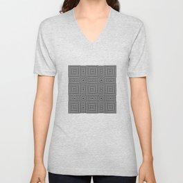 Flickering geometric optical illusion Unisex V-Neck