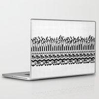 notebook Laptop & iPad Skins featuring School notebook 2 by Eva Bellanger