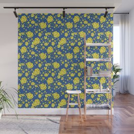 Floral Love of Mustard Wall Mural