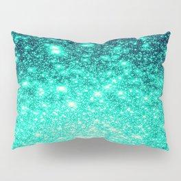 Stars Ombre Cool Aqua & Teal Pillow Sham