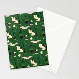 Slytherin Pattern Stationery Cards