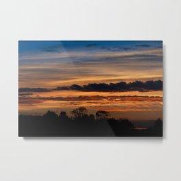 Twilight colorful sunset Metal Print