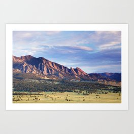 Boulder Colorado Flatirons Art Print