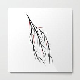 Autumn Willow Metal Print