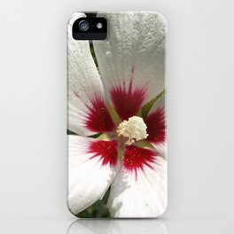 Hibiscus, White iPhone Case