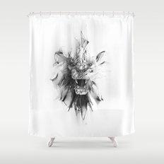 STONE LION Shower Curtain