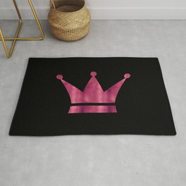 The Queen's Pink Crown Rug