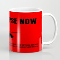 apocalypse now Mugs featuring Apocalypse Now Move Poster by FunnyFaceArt