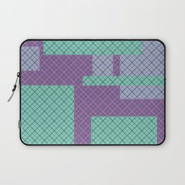 Lilac , turquoise , patchwork Laptop Sleeve