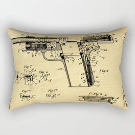Browning Firearm Support Patent Drawing From 1911 Rectangular Pillow