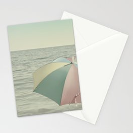 Umbrella Vintage Beach Stationery Cards