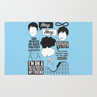 fault in our stars Area & Throw Rugs featuring The Fault In Our Stars Collage by laurenschroer