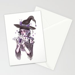 Crystal Ball Inktober Painting Stationery Cards