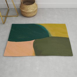 The Colliding Of Two Greens Rug