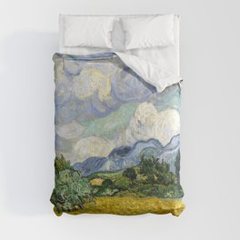 """Vincent van Goghm """"Wheat Field with Cypresses""""  Comforters"""