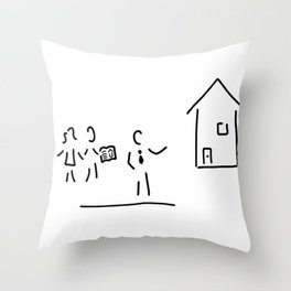real estate broker house purchase Throw Pillow