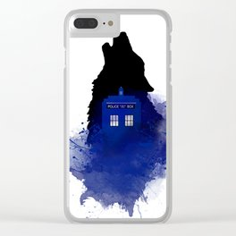 Dr.Who, Art, Design, Dr. Who Art, BadWolf, Bad Wolf Clear iPhone Case