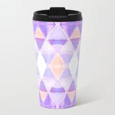 Art Deco Triangles Light Purple Metal Travel Mug