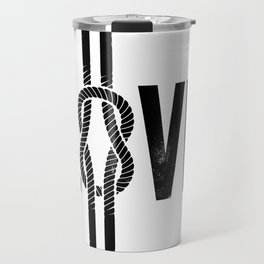 Love Knot (Black) Travel Mug