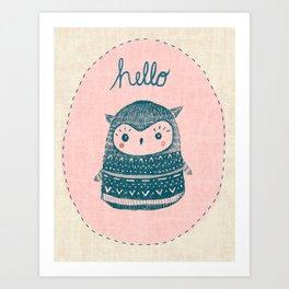 Friendly Owl Art Print