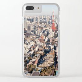 Tokyo Skyline Clear iPhone Case