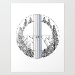 Geometric Colorado Art Art Print
