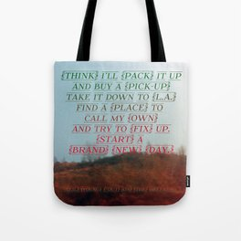 """""""Out On The Weekend"""" by Neil Young Tote Bag"""