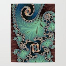 Azure - Fractal Art Poster