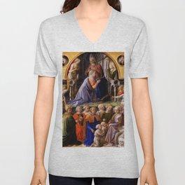 """Fra Filippo Lippi """"Coronation of the Virgin"""" Unisex V-Neck"""