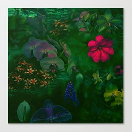 Gathering of Flowers - [Green Version] Canvas Print