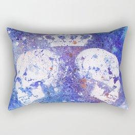 Queendom (spray paint graffiti art, crown with skulls) Rectangular Pillow