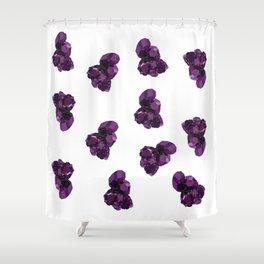 Amethyst Crystal Stone Shower Curtain