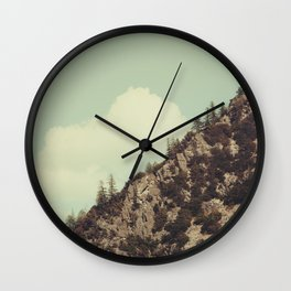Up the Mountains Wall Clock