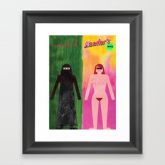 Cover up Framed Art Print