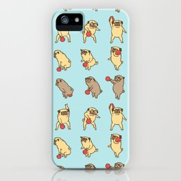 Kettlebell workout with the pug iPhone Case