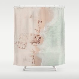 beach - pink champagne Shower Curtain