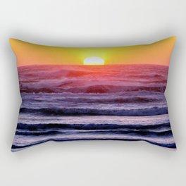 Colorful Sunset Water Rectangular Pillow