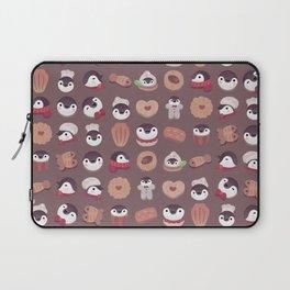 Cookie & cream & penguin - brown  pattern Laptop Sleeve