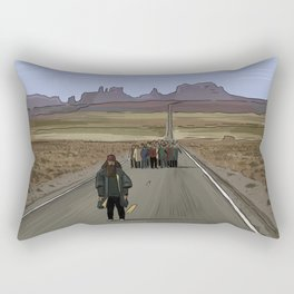 Forrest Gump Illustration by Burro Rectangular Pillow