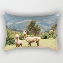 Llama Party Rectangular Pillow