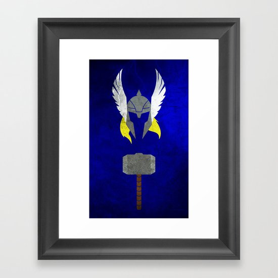 God of Thunder Framed Art Print