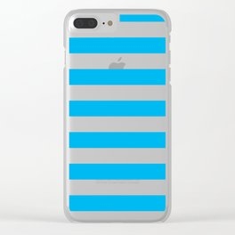 Blue Stripes Clear iPhone Case