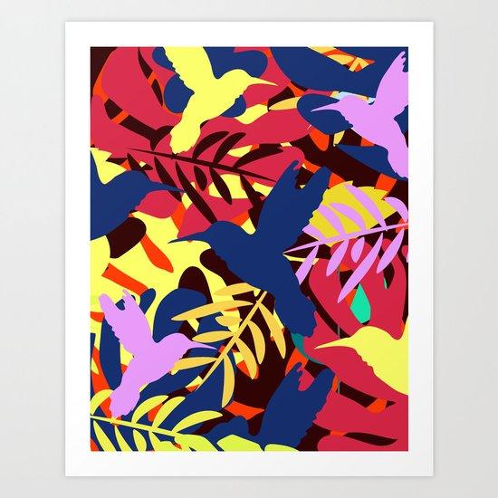 A tropical flight Art Print