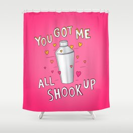 You Got Me All Shook Up Shower Curtain