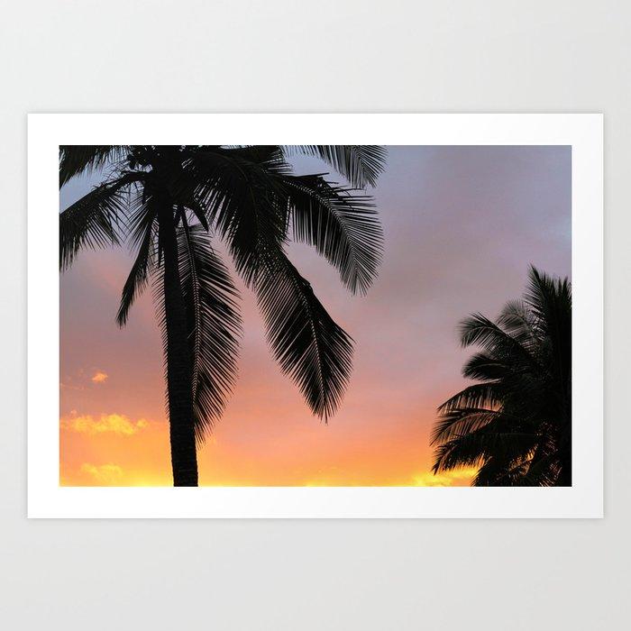 Ocean Shore Palms Art Print