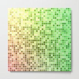Red yellow green mosaic Metal Print