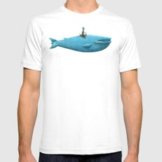 Whale Rider  SMALL White Mens Fitted Tee