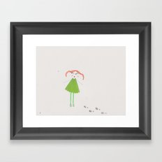 The lost girl Framed Art Print