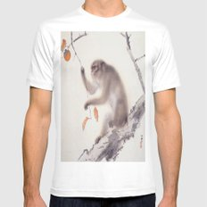 Monkey Vector After Hashimoto Kansetsu MEDIUM White Mens Fitted Tee