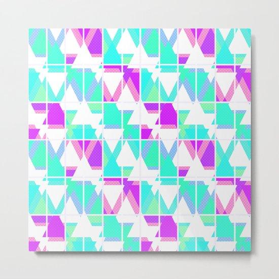 Abstract geometric pattern 4 . Metal Print